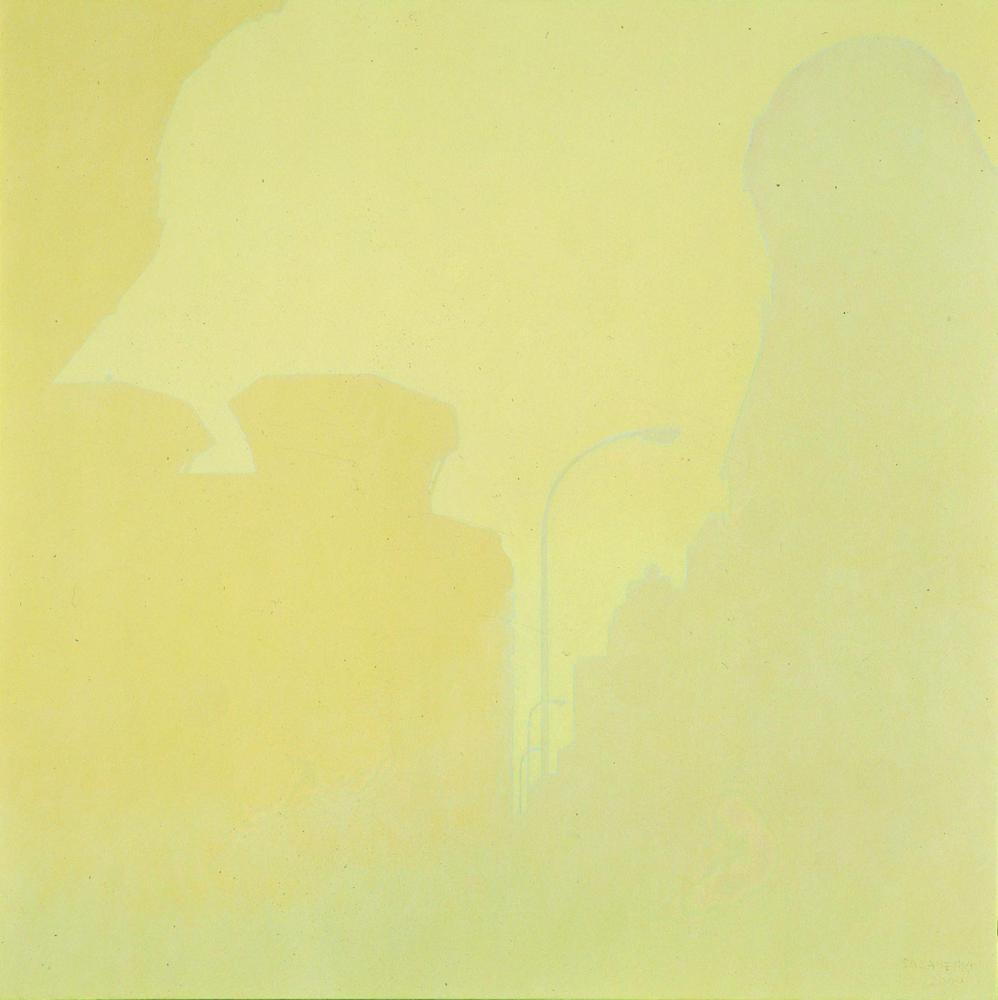 Avda. de Roncesvalles, 100 x 100 cm, óleo lienzo, 2000.