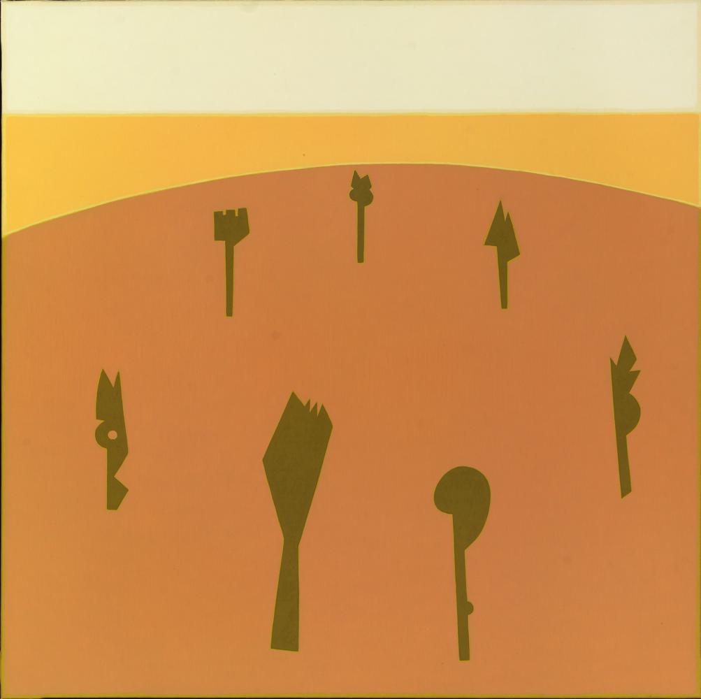 El campo de las siete mujeres, 100 x 100 cm, óleo lienzo, 1998-2007.