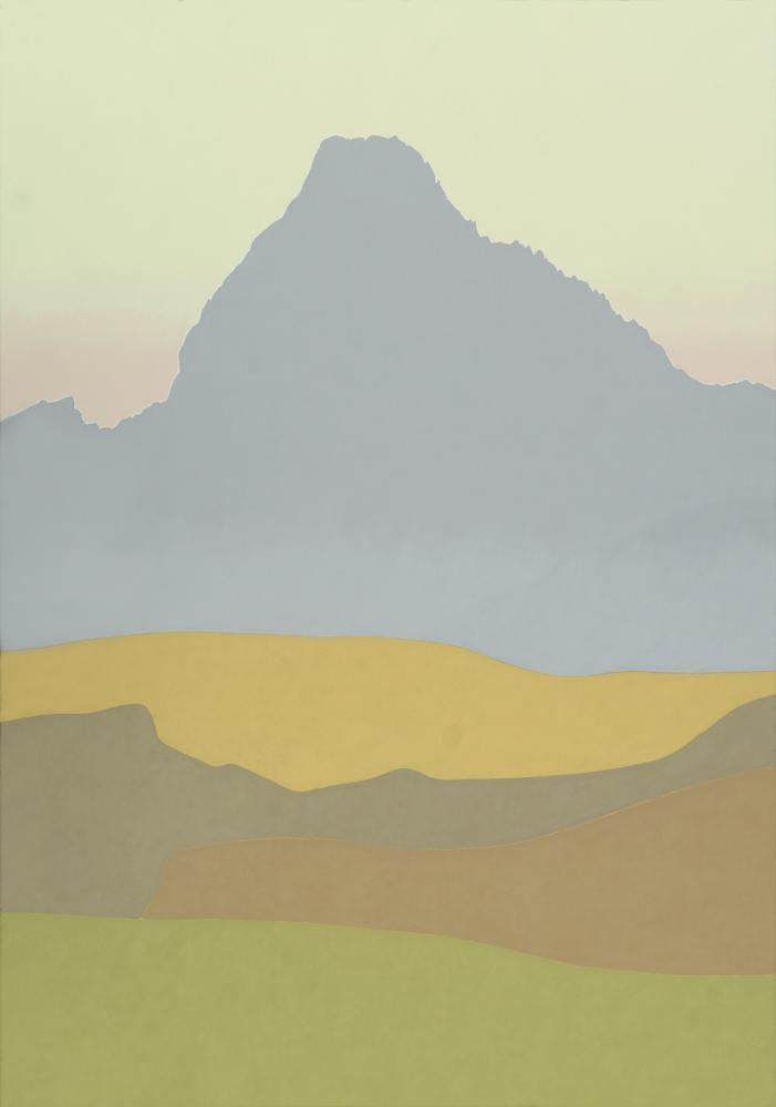 Midi d´Ossau, 162 x 114 cm, óleo lienzo, 2001.