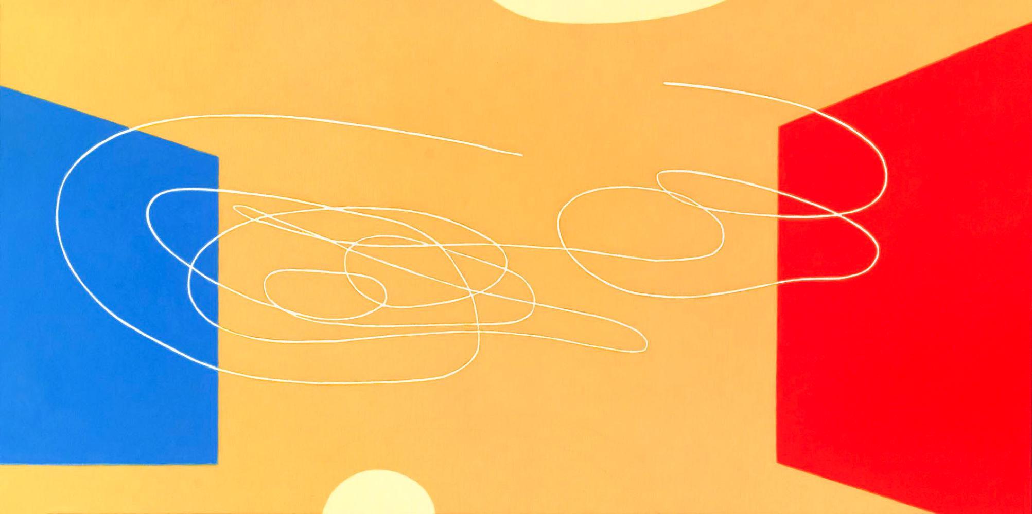 Lucio Fontana en Caixa Forum, 50 x 100 cm, óleo lienzo, 2007.