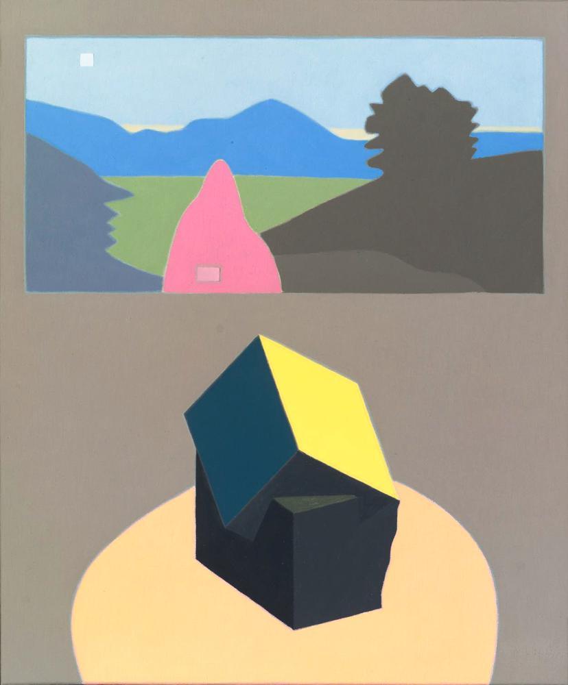 Pirita y cuadro del pirineo, 46 x 38 cm, óleo lienzo, 2006.